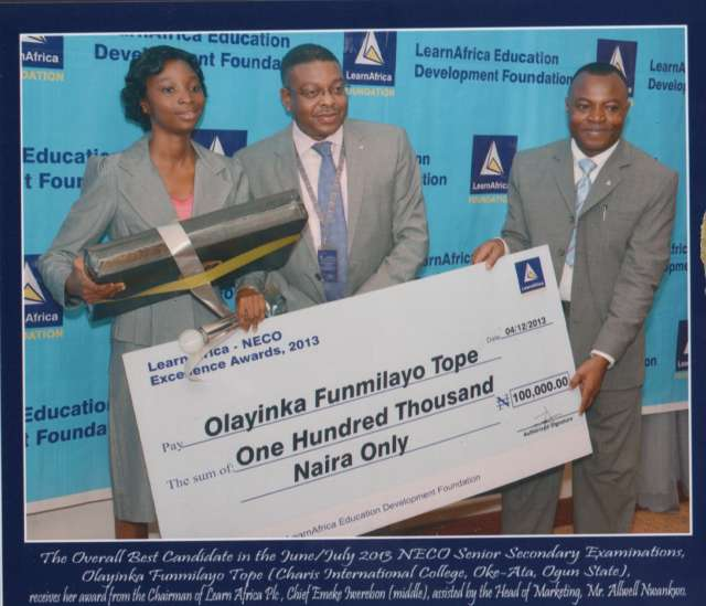 Education development foundation rewards outstanding NECO students