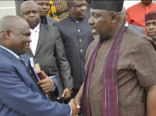 Imo state needs 20 universities, Okorocha tells Lazarus Muoka